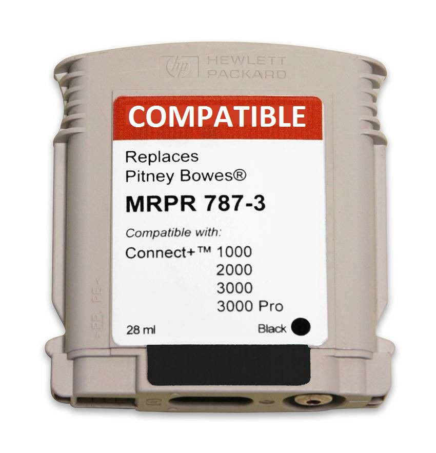 Pitney Bowes 787-3 compatible ink cartridge-connect+