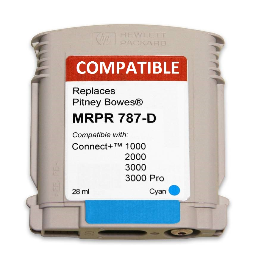 Pitney Bowes 787-D compatible ink cartridge-connect+