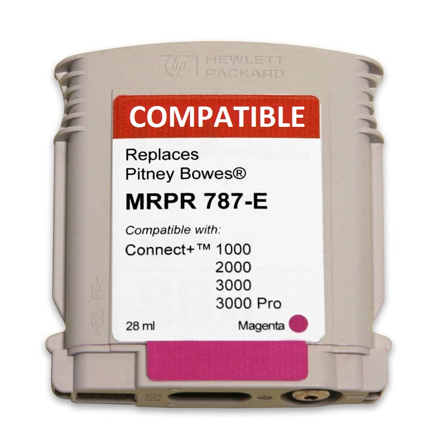 Pitney Bowes 787-E compatible ink cartridge-connect+