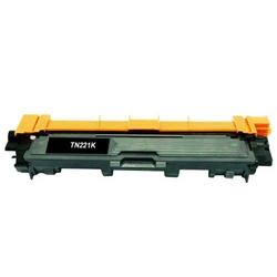 Brother TN221BK compatible black toner cartridge