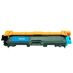 Brother TN225C compatible cyan toner cartridge