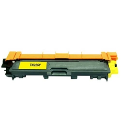 Brother TN225Y compatible Yellow toner cartridge